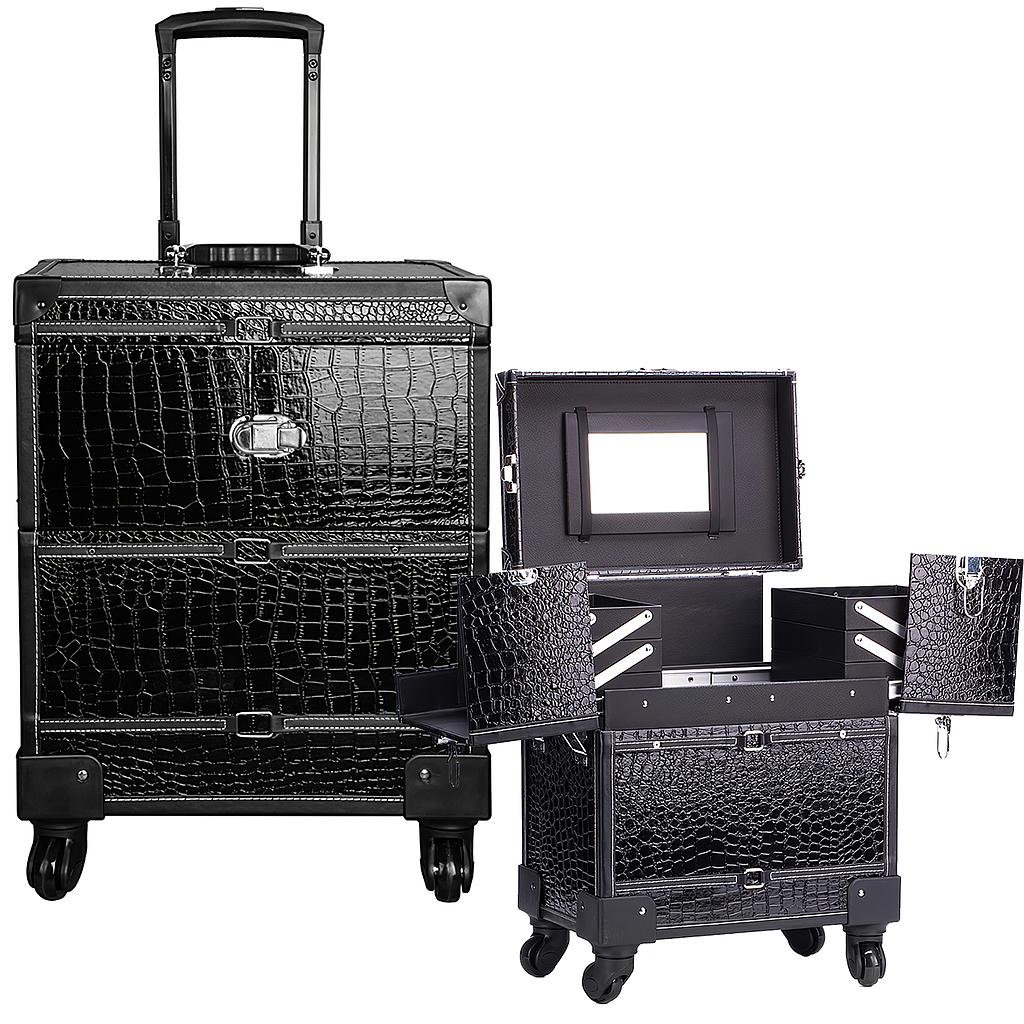 Aluminum Cosmetic Makeup Trolley Case