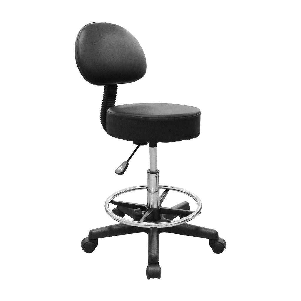 Deluxe Hydraulic  Adjustable Swivel Rolling Stool - RSWB&F911
