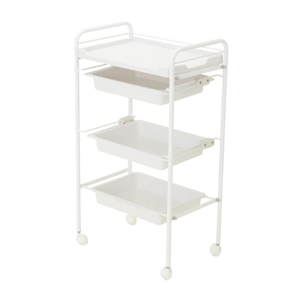 Beauty Plastic Trolley with Three Shelves and One Tray- PST491 - Greenlife