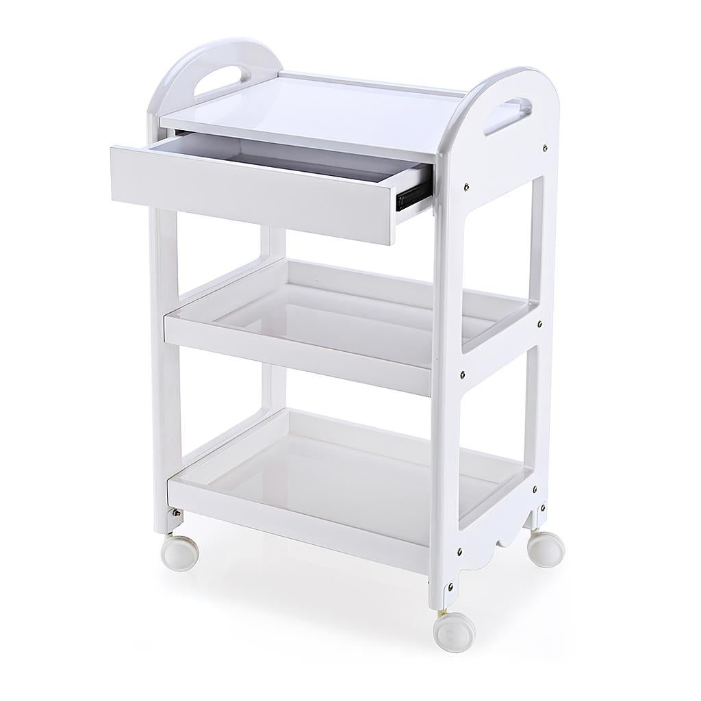 Beauty Metal Frame Three Shelves Trolley with Drawer - ST241 - Greenlife
