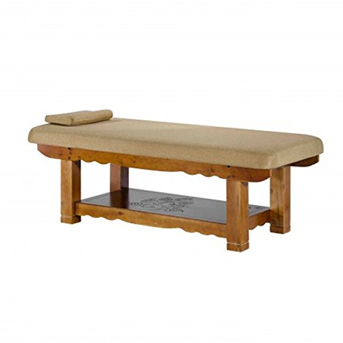 Super Stable Wooden one Piece Stationary Linen Massage SPA Table - ST281