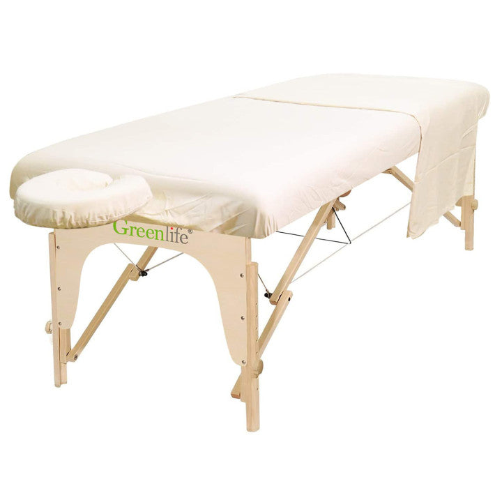 Poly-Cotton 3 Pieces Massage Table Sheet Set - Greenlife
