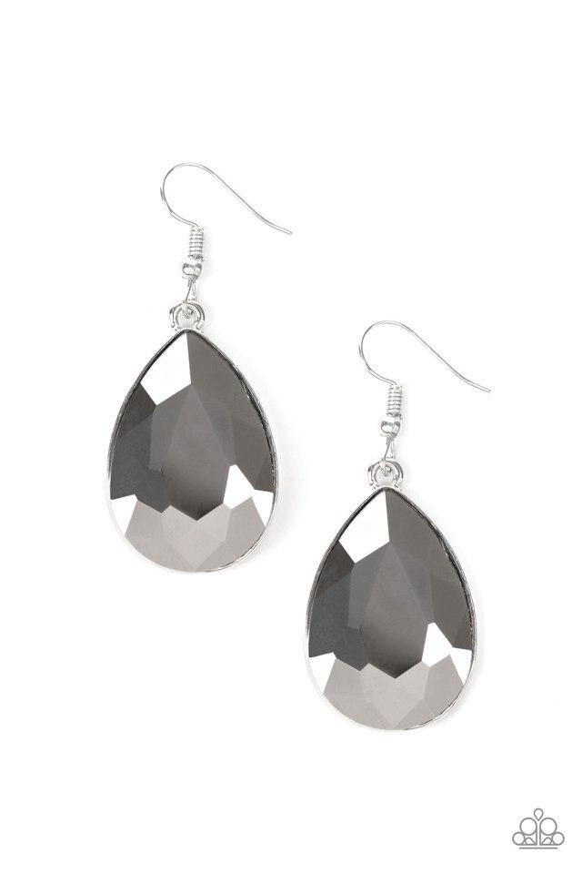 Paparazzi Earring ~ Limo Ride - Silver