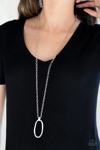 Paparazzi Necklace ~ Grit Girl - Silver