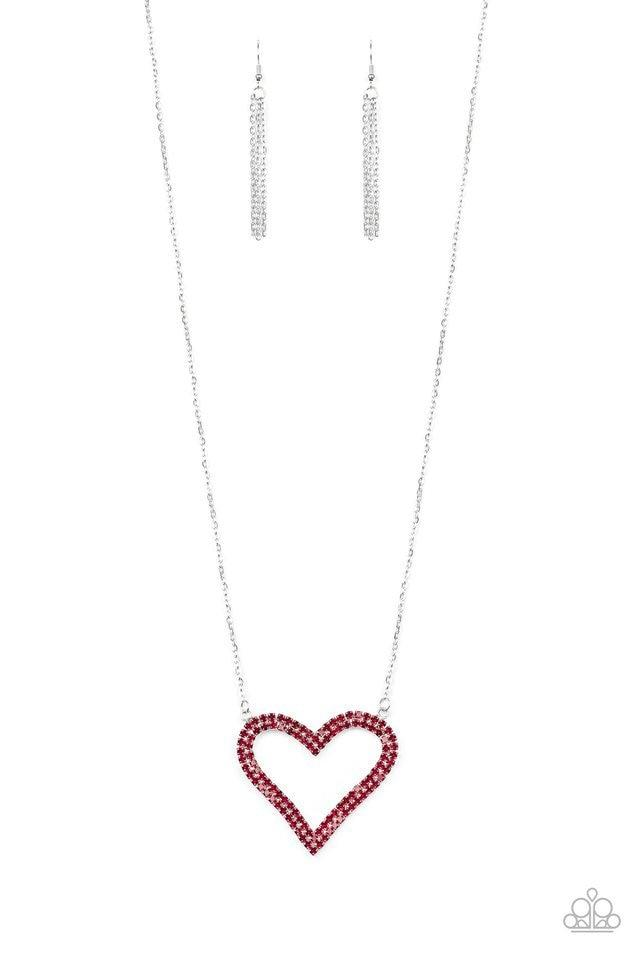 Paparazzi Necklace ~ Pull Some HEART-strings - Red