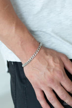 Load image into Gallery viewer, Men's Paparazzi Bracelet ~ Halftime - Silver