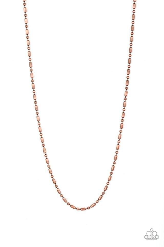 Men's Paparazzi Necklace ~ Covert Operation - Copper