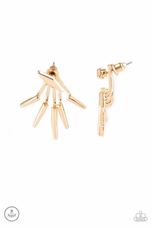Paparazzi Earrings - Extra Electric - Gold