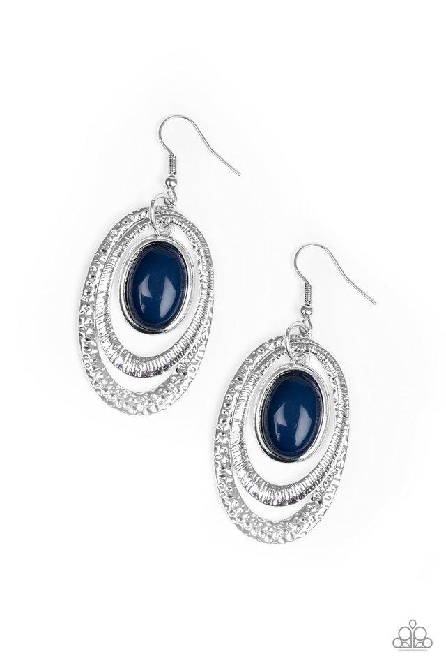 Paparazzi Earring ~ Seaside Spinster - Blue