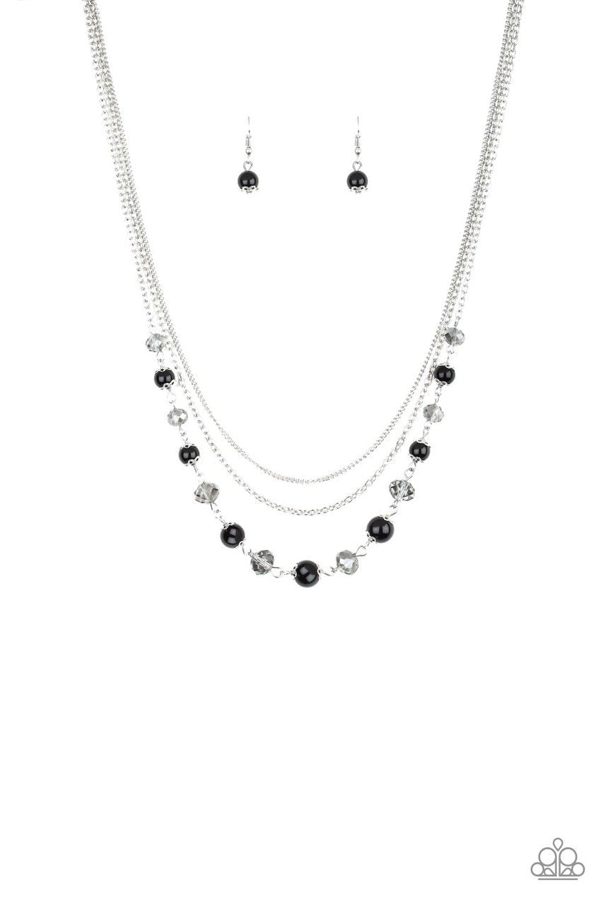 Paparazzi Necklace ~ Tour de Demure - Black