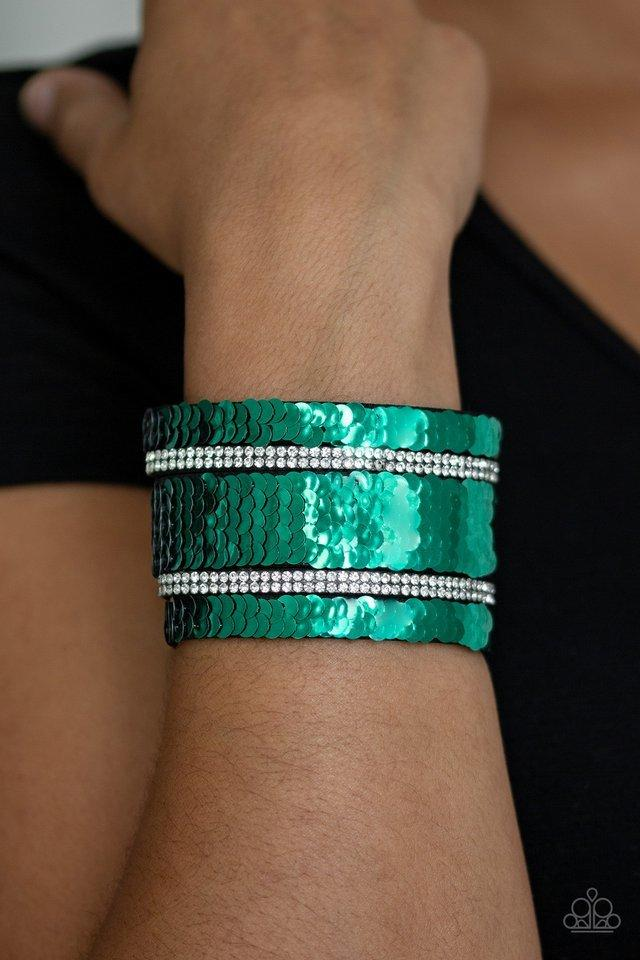 Paparazzi Bracelet ~ MERMAID Service - Green