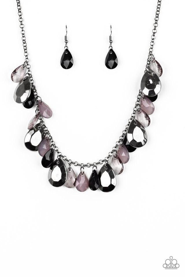 Paparazzi Necklace ~ Hurricane Season - Black