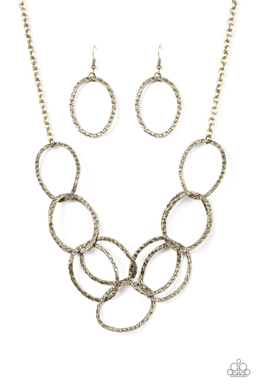 Paparazzi Necklace ~ Circus Royale - Brass
