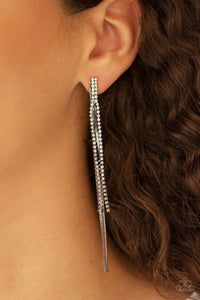 Paparazzi Earring ~ Flavor of the SLEEK - Black