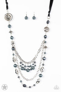Paparazzi Necklace Blockbuster - All the Trimmings - Black