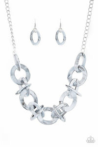 Paparazzi Necklace ~ Chromatic Charm - Silver