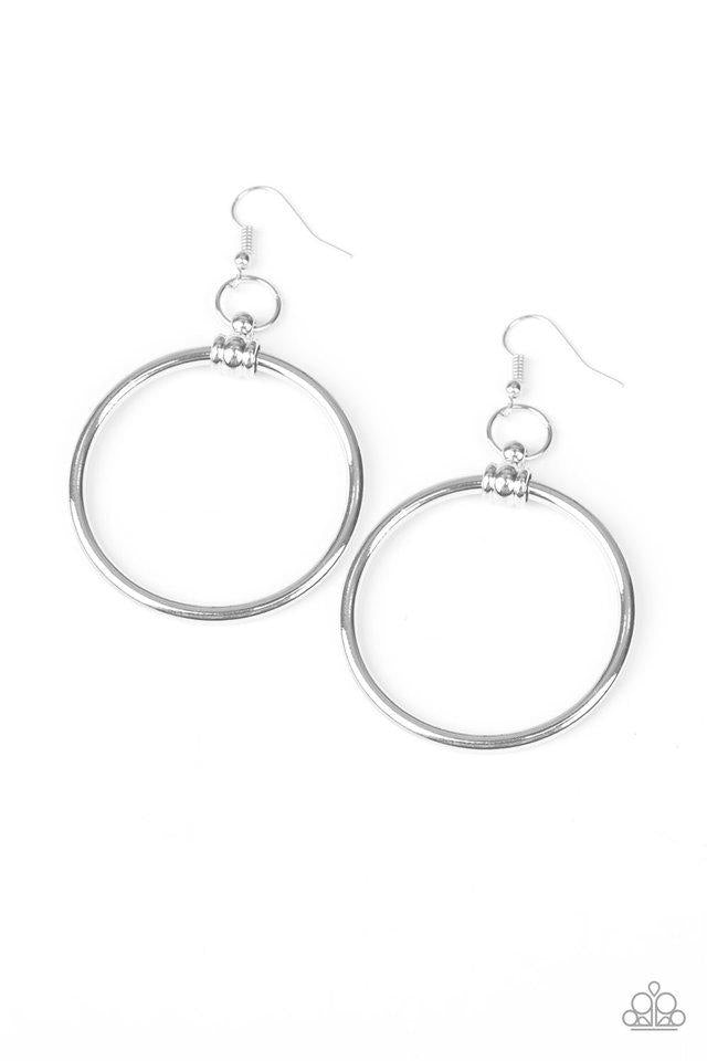 Paparazzi Earring ~ Total Focus - Silver