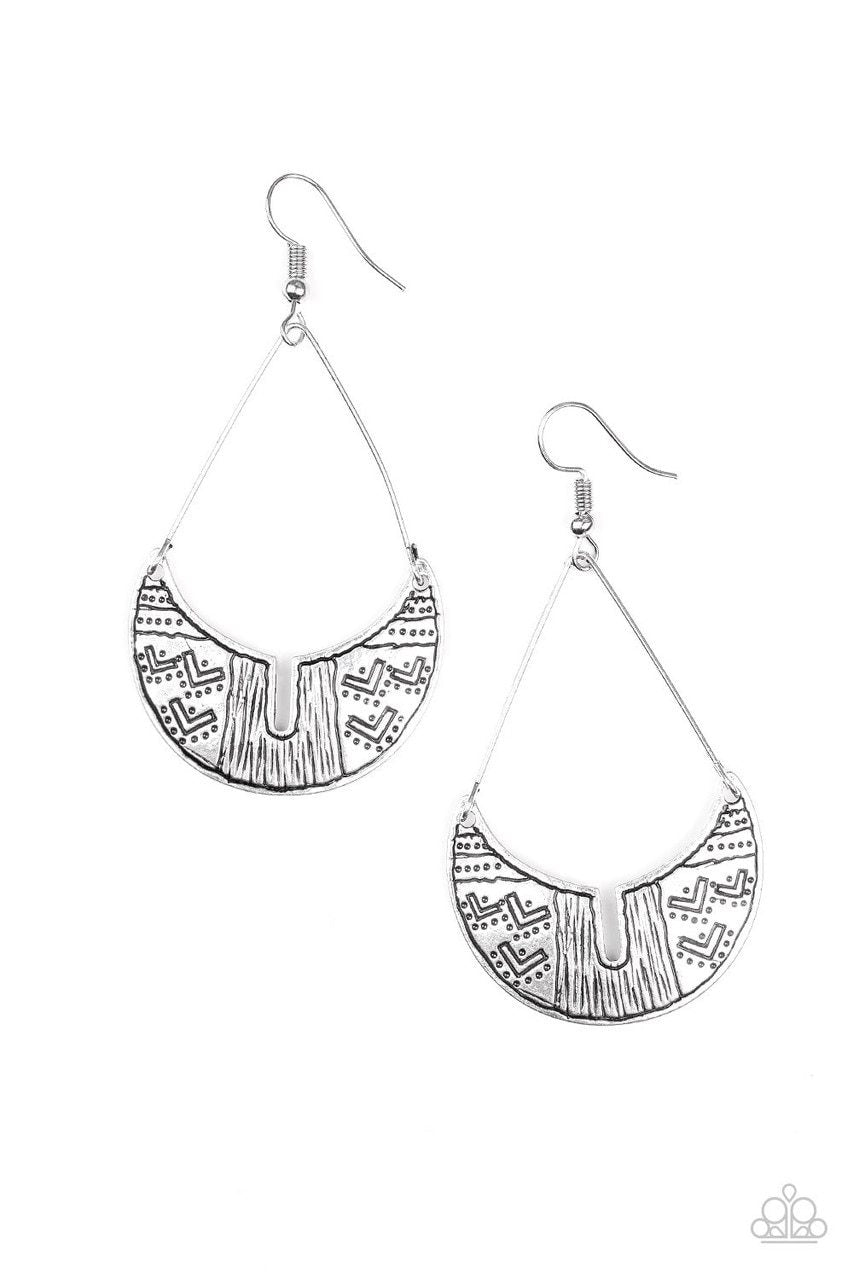 Paparazzi Earring ~ Trading Post Trending - Silver