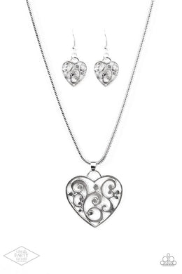 FILIGREE Your Heart With Love - Silver - Paparazzi Necklace Image