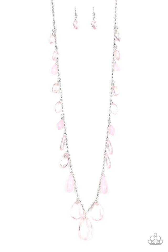 Paparazzi Necklace ~ GLOW And Steady Wins The Race - Pink