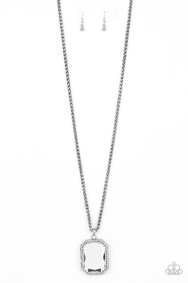 Paparazzi Necklace ~ Let Your HEIR Down - White