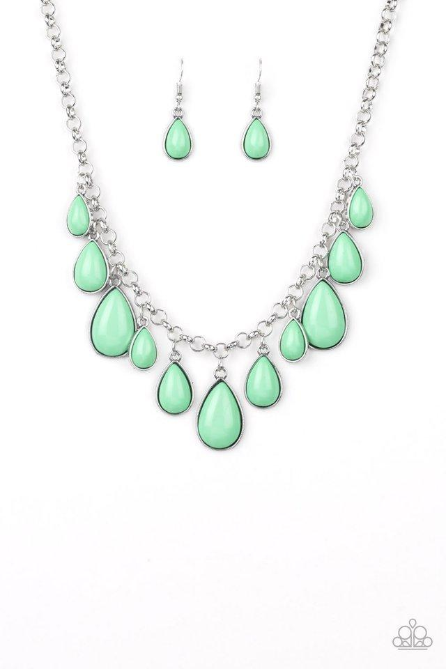 Paparazzi Necklace ~ Jaw-Dropping Diva - Green