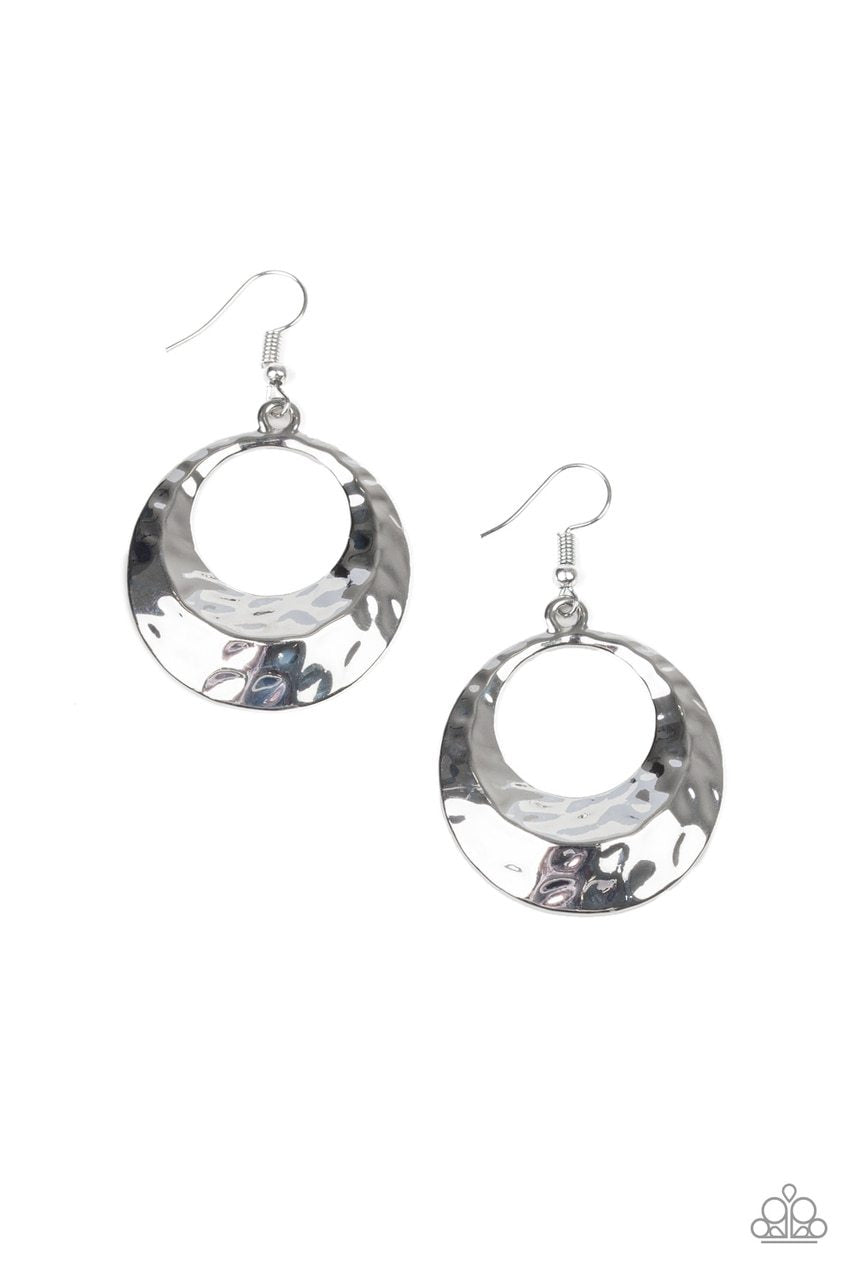 Paparazzi Earring ~ Savory Shimmer - Silver