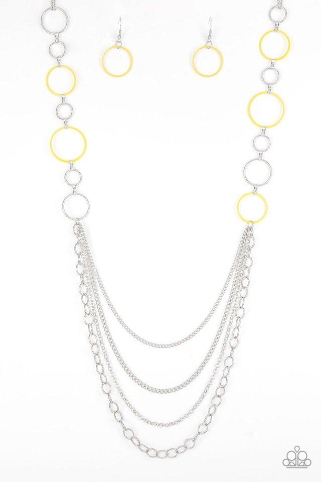 Paparazzi Accessories ~ Beautifully Bubbly - Yellow