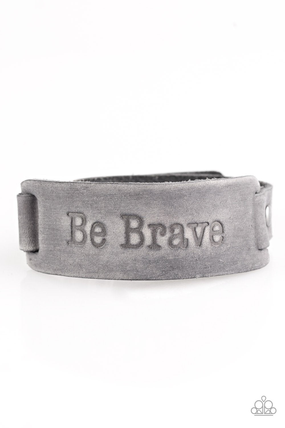 Paparazzi Accessories ~ Put On A Brave Face - Silver