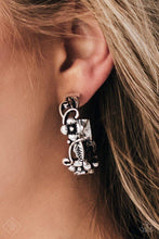 Load image into Gallery viewer, Paparazzi Earrings - Garden County - Silver