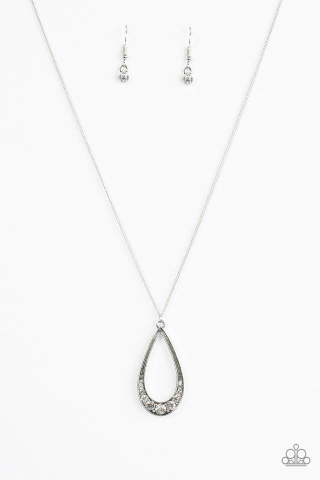 Paparazzi Necklace - Teardrop Tease - White