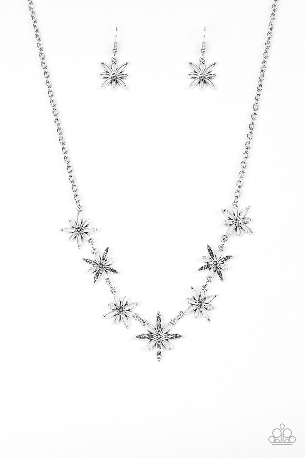 Paparazzi Accessories ~ Decked Out In Daisies - Silver