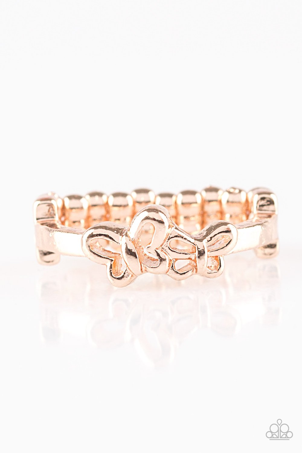 Paparazzi Accessories ~ Butterfly Blessing - Rose Gold