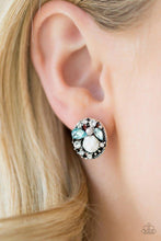 Load image into Gallery viewer, Paparazzi Earrings - Pretty Perennial - Blue
