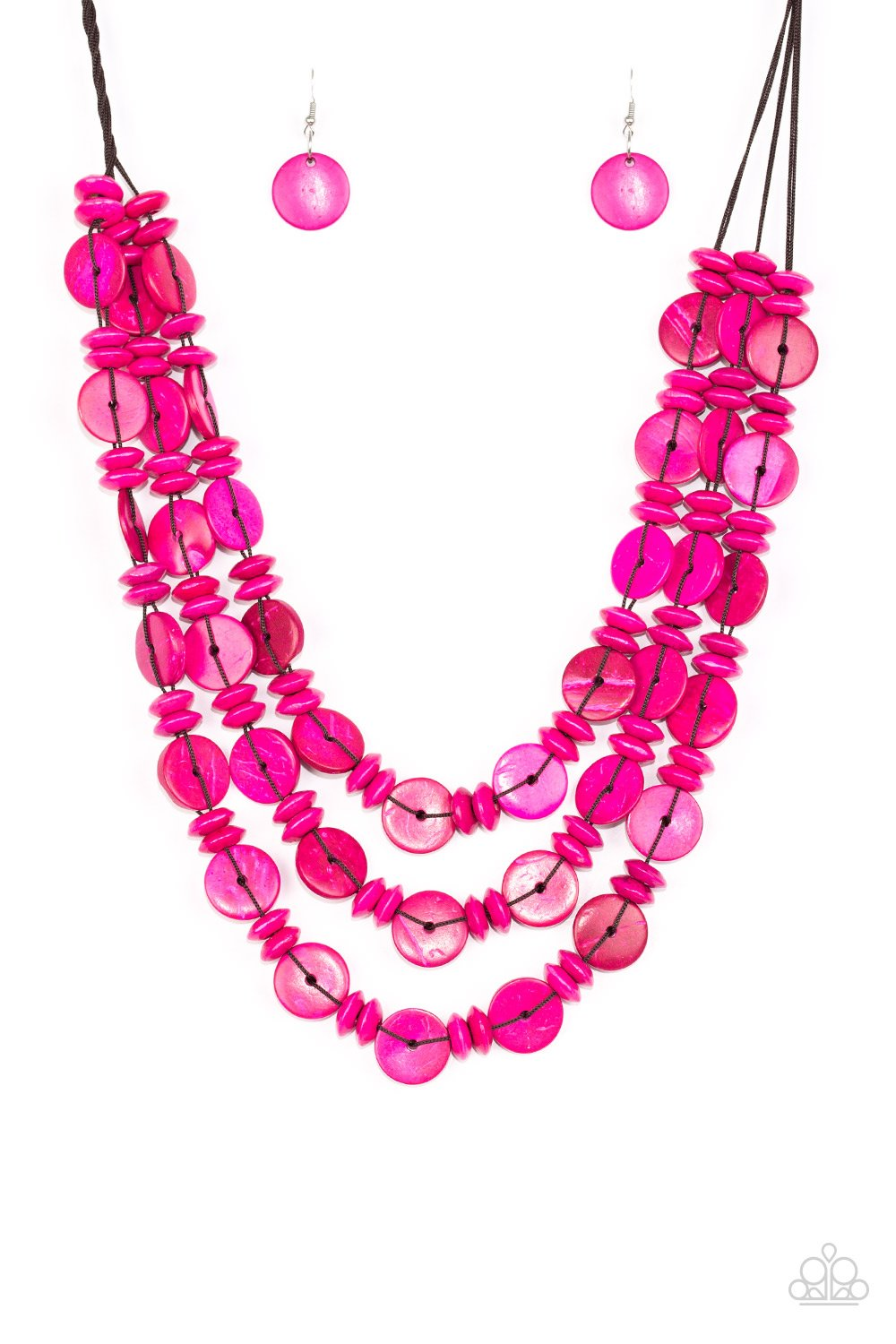 Paparazzi Accessories ~ Barbados Bopper - Pink