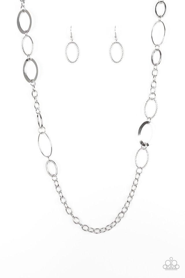 Paparazzi Accessories ~ Chain Cadence - Silver