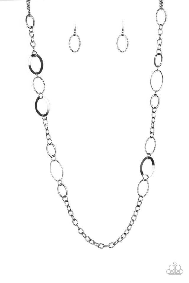Paparazzi Accessories ~ Chain Cadence - Black
