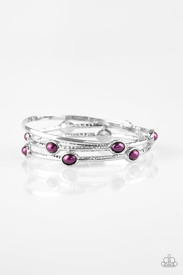 Paparazzi Bracelet ~ Bangle Belle - Purple