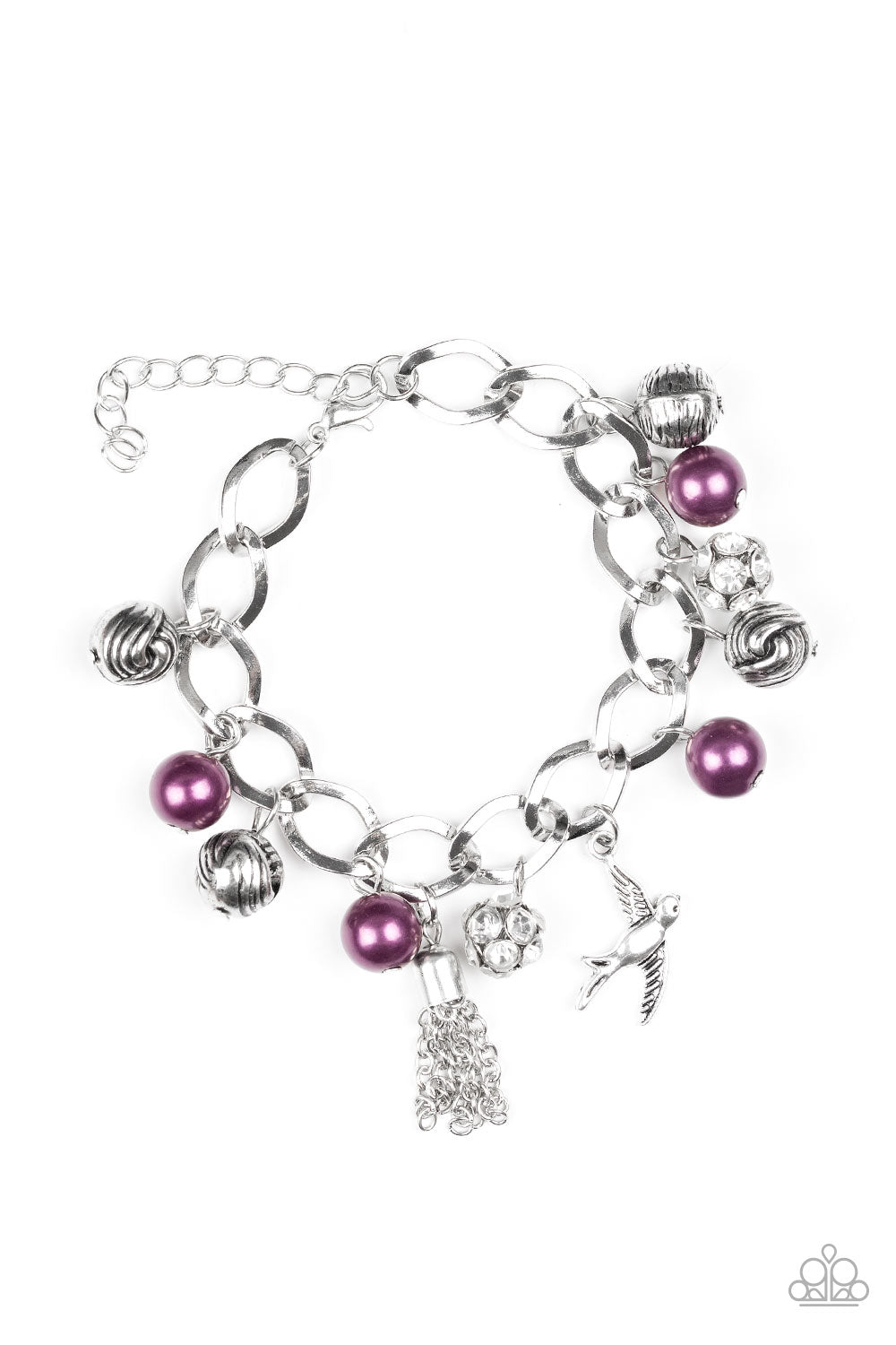 Paparazzi Bracelet ~ Lady Love Dove - Purple