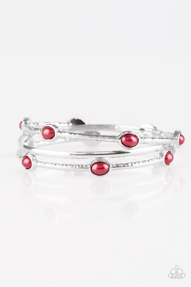 Paparazzi Accessories ~ Bangle Belle - Red