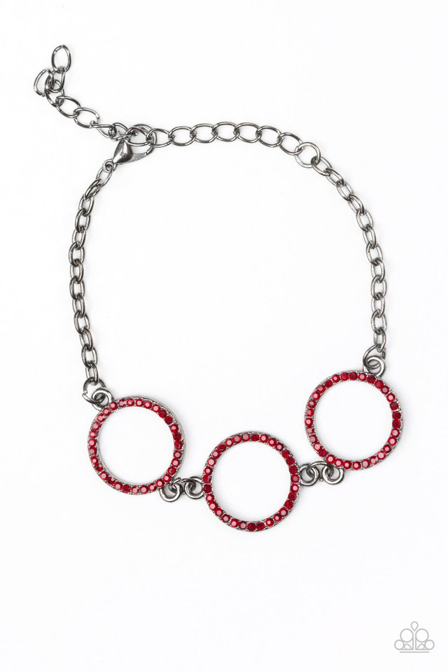 Paparazzi Bracelet ~ Dress The Part - Red