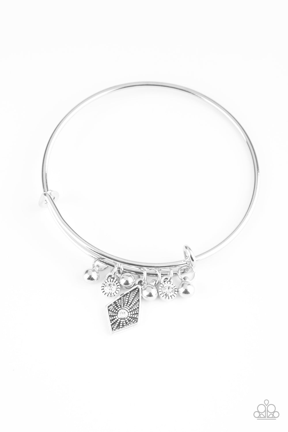 Paparazzi Bracelet ~ Treasure Charms - White