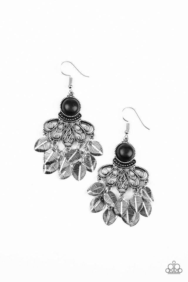 Paparazzi Earring ~ A Bit On The Wildside - Black