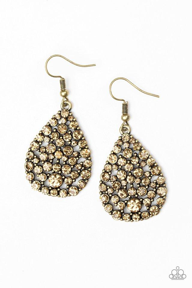Paparazzi Accessories ~ Sparkle Brighter - Brass