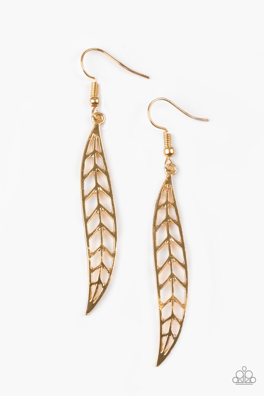 Paparazzi Accessories ~ Feelin Feathery - Gold
