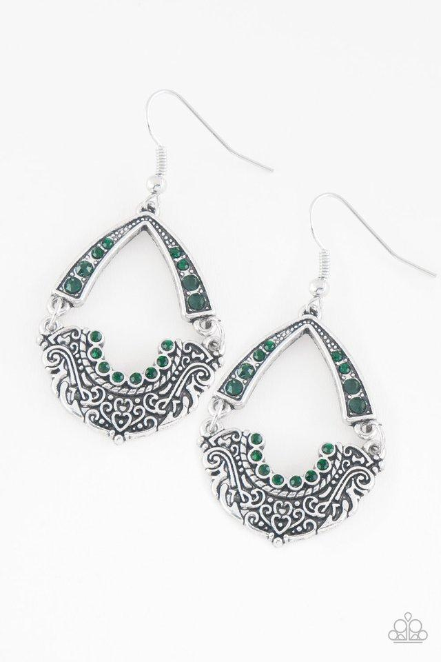 Paparazzi Earring ~ Royal Engagement - Green