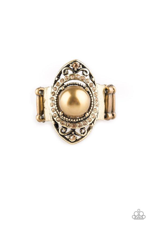 Paparazzi Accessories ~ Pearl Posh - Brass