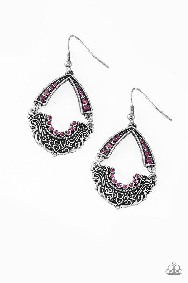 Paparazzi Earring ~ Royal Engagement - Pink