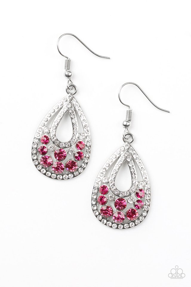 Paparazzi Earring ~ Sparkling Stardom - Pink
