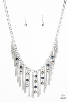 Ever Rebellious - Blue - Paparazzi Necklace Image